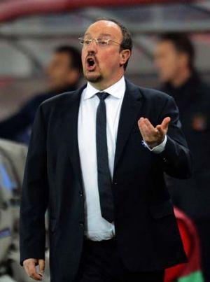 Coach Rafael Benitez of Chelsea.