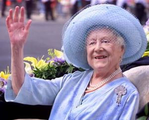 The Queen Mother celebrating her 100th birthday.