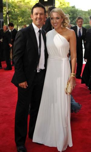 Key influence: Ricky Ponting and wife Rianna.
