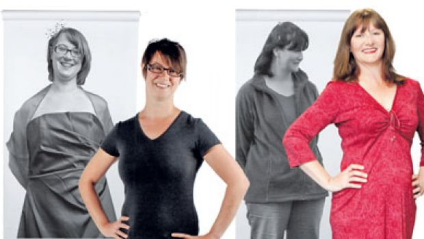 Before and after: Nichola Midgley, Jane Devenish-Meares, Georgina Russel and Dan Squance.