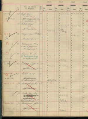 A handout photo released by the Wiener Philharmoniker (Vienna Philharmonic) shows a page of its membership registry book ...