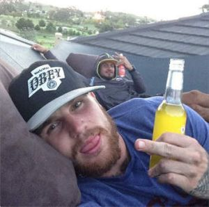 """Photo from Josh Dugan's Instagram account, which he captioned: """"Make your own luck! Whatever will be will be!""""."""