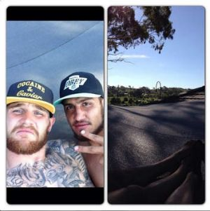 """Photo from Josh Dugan's Instagram account, which he captioned: """"Life goes on! Nothing but love for brother @blakeferguson4""""."""
