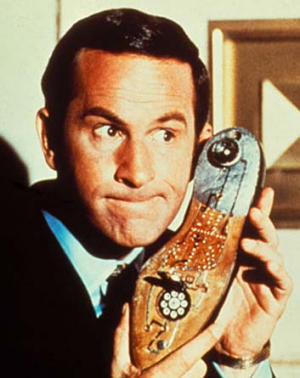 Yes, chief: Don Adams as Maxwell Smart in <em>Get Smart</em>.