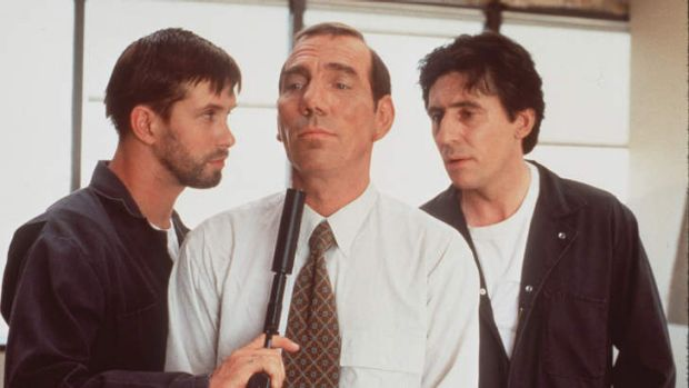 No more violent roles ... Stephen Baldwin, left, in <i>The Usual Suspects</i>.