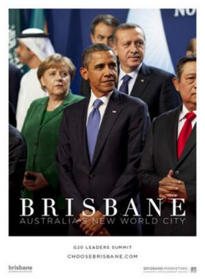 Choose Brisbane campaign, promoting the G20 Summit and featuring Barrack Obama.