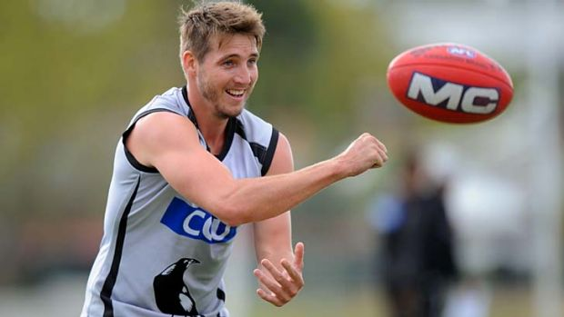 Cold pie: Collingwood's Dale Thomas has an ankle injury.