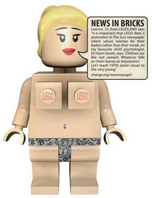 Step one: Members of No More Page 3 hope more advertisers will follow Lego's example.