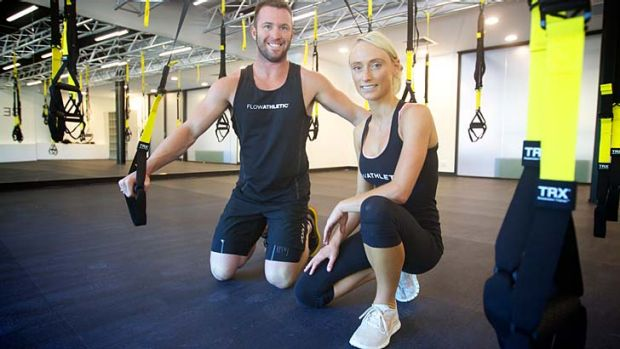Flexible resistance ... Ben Lucas and Kate Kendall of Troga.