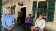 Residents in St Albans, north west of Sydney and their poor phone service from Telstra.From left, Jane Blacker, Ian ...