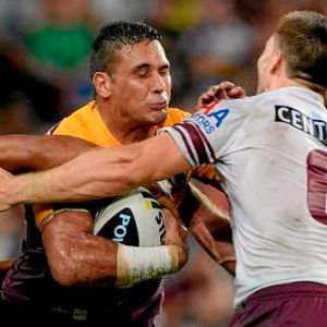 Key man ... Justin Hodges of the Broncos.