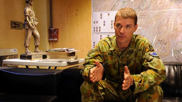 Lieutenant-Colonel Chris Smith says young soldiers have 'distorted and fanciful perception' of war.