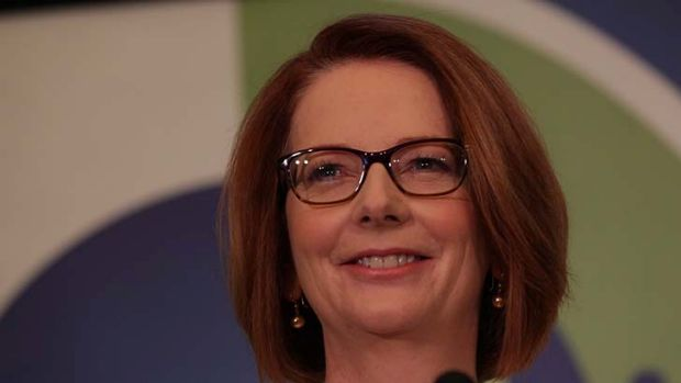 Prime Minister Julia Gillard delivers the keynote address to the ACTU National Community Summit at Old Parliament House.