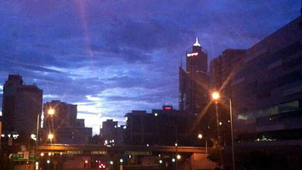 Perth city at 5:30am on Thursday.