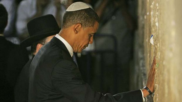 Barack Obama at the Western Wall.