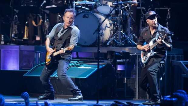 Bruce Springsteen, Tom Morello and the E Street Band had the Brisbane Entertainment Centre crowd eating out of their hands.