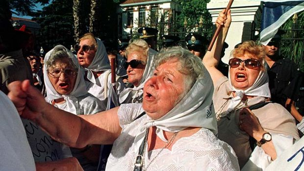 Activists: The Grandmothers of the Plaza del Mayo, who lost family in Argentina's civil war.