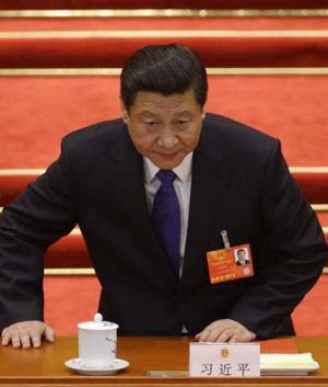 Mobilising the military: Chinese President Xi Jinping.