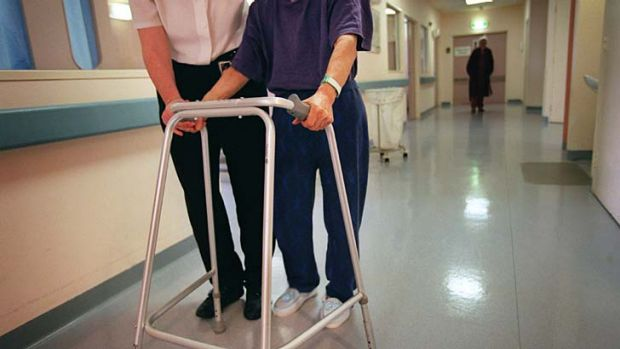 At risk: the number of elderly people who die from falls has quadrupled over the last 10 years.