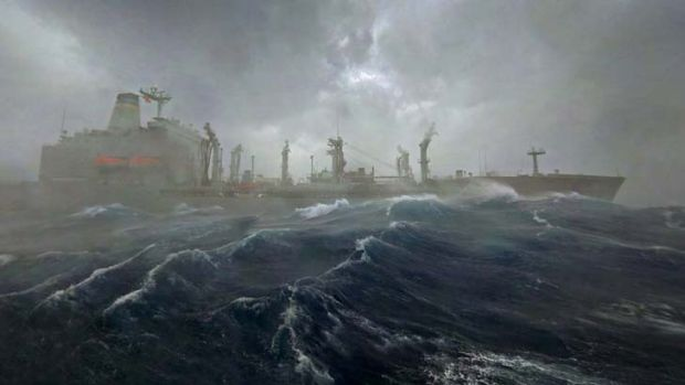 Stormy weather: Fortifications are needed to protect ports.
