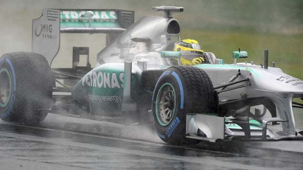 Well-placed: Nico Rosberg of Germany during final practice on Saturday.