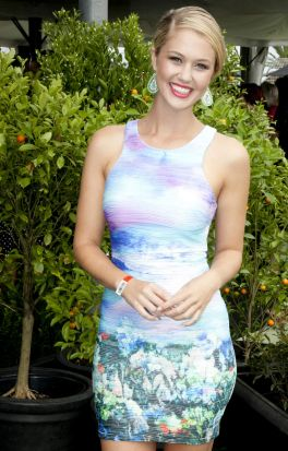 Scherri-Lee Biggs at the Mercedes-Benz Star Ladies Lounge Luncheon.