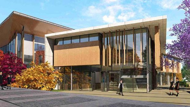 New look: An artist's impression of the proposed aquatic and fitness centre at Pymble Ladies' College.