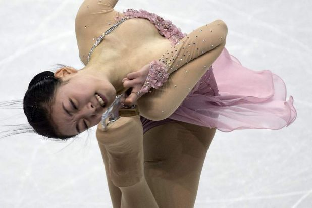Zijun Li, of China, performs her free program in the women's competition.