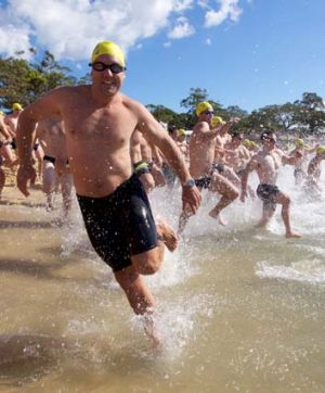 Race-keen: For a swim it got off to a running start, with about 1200 entrants stroking out to raise funds.