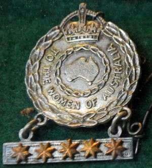 One of the two badges presented to Mrs Guppy.