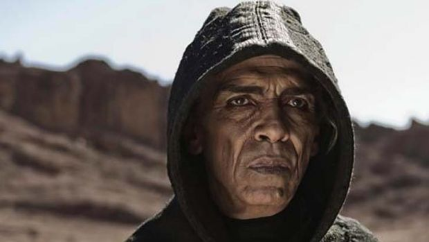 Lookalike?: Mehdi Ouzaani plays Satan in <em>The Bible</em>.
