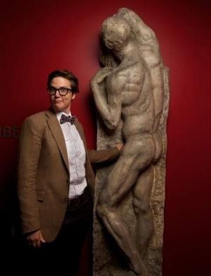 Fleshed out: Hannah Gadsby pulls together her backgrounds in art and comedy during her Nakedy Nudes show.