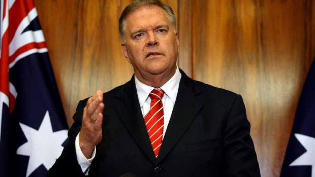 Kim Beazley: told the press Bob Hawke would not be replaced.