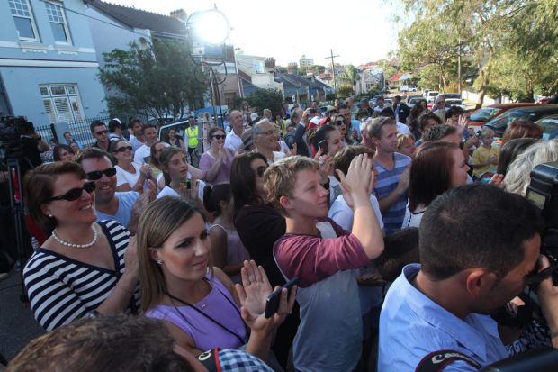 The crowds were happy at The Block: All Stars auction.