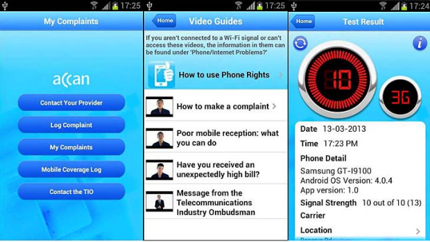 ACCAN's Phone Rights app on Android.
