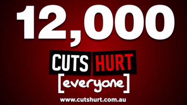 A frame from the CPSU's new ad campaign against Tony Abbot's plans to cut jobs from the Commonwealth public sector.