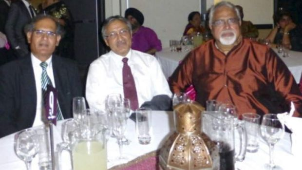 Minhas Zulfiqar (right) celebrates New Year's Eve 2013 with  Syed Zafar Hussain (left) and the High  Commissioner of ...
