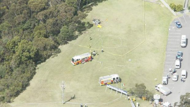 An aerial scene of the accident near Panorama House.