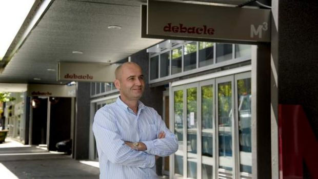 Debacle owner and director Vladamir Hatala outside the new premises in February.