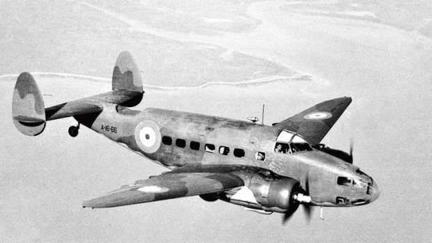War birds … a Lockheed Hudson light bomber, similar to the one that crashed into a hillside near Canberra airport on ...