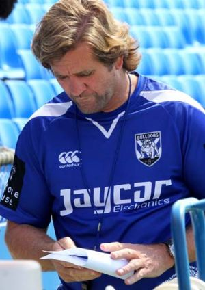 Blueprint: Des Hasler enjoyed success last season using props like halves, encouraging them to offload in the tackle to ...