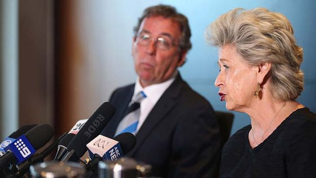 Tight lipped: Craig Douglas refused to discuss rumours Tricia Kavanagh, right, is receiving $6000 a day for advising the ...