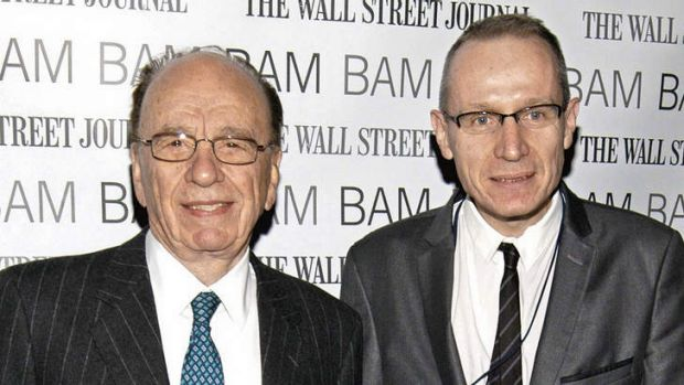 Here is the news …Rupert Murdoch and Robert Thomson in New York in 2009.