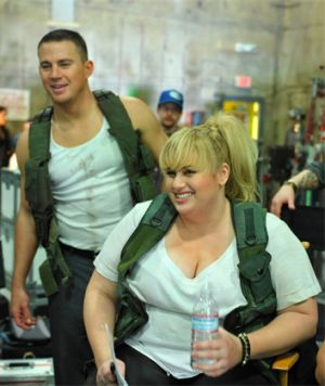 Rebel Wilson tweeted this picture of herself and Channing Tatum.