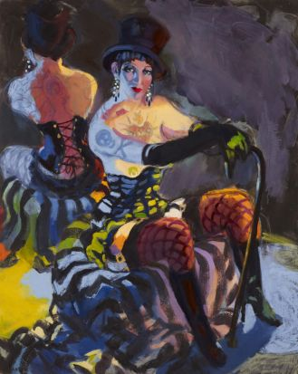 The Archibald Prize 2013 Wendy Sharpe, Anything goes (Venus vamp - Burlesque star) Oil on canvas  152 x 122cm