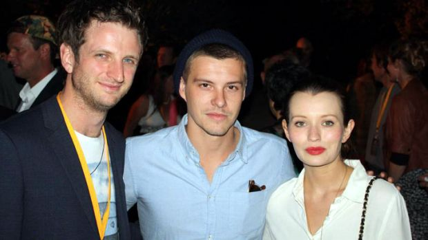 <i>Drift</i> actors Aaron Glenane and Xavier Samuel (<i>The Twilight Saga: Eclipse</i>) were excited to see the whole ...