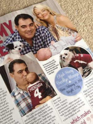 The New Idea article on Mal Meninga becoming a new dad at the age of 52.