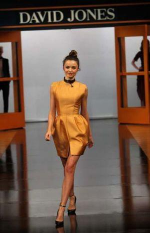 Dumped: Miranda Kerr (pictured) will be replaced by Jessica Gomes at David Jones.