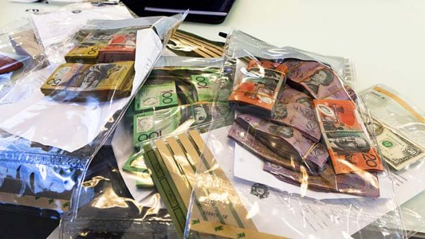 Part of the $4 million cash seized by police in the raids.