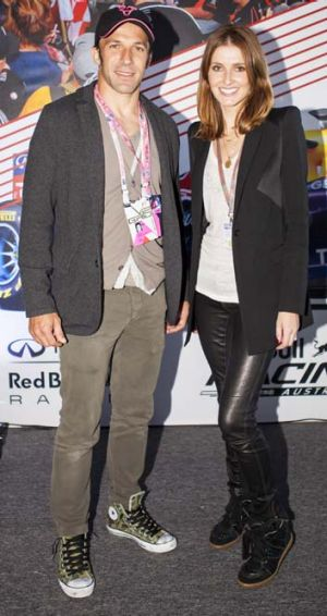 On the ball: Alessandro Del Piero with Kate Waterhouse.